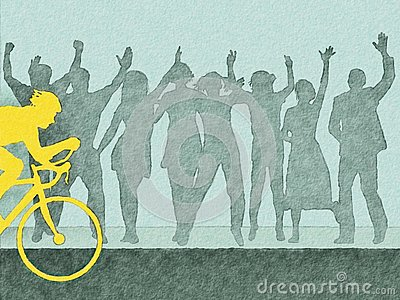 Cyclist Watercolor Royalty Free Stock Images - Image: 19581219
