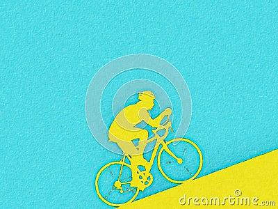 Cyclist watercolor