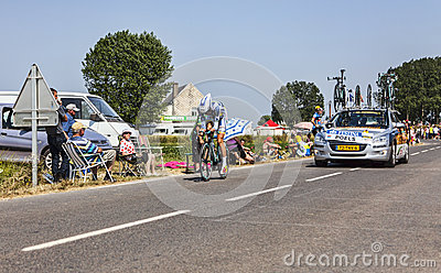 The Cyclist Wouter Poels Editorial Stock Image