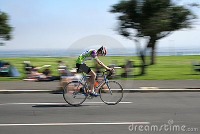 Cycliste d Argus de cap Photo éditorial