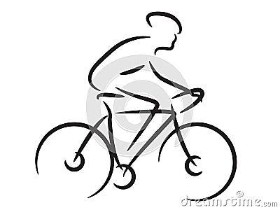 Cycliste de montagne photo stock image 23764670 - Dessin cycliste humoristique ...