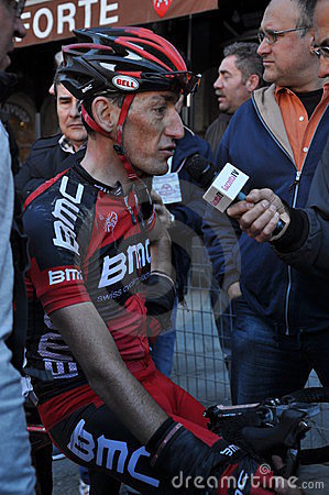 Cycliste Marco Pinotti Photographie éditorial