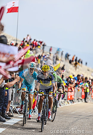 Cyclists Climbing Mont Ventoux Editorial Image