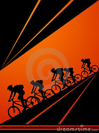 Cyclists cycling