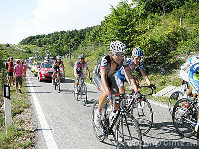 Cyclists of Giro d Italia 2009 Editorial Photo