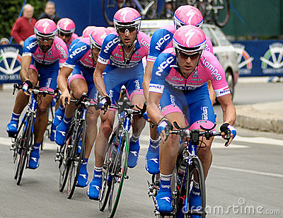 Cyclists in giro d italia Editorial Photo