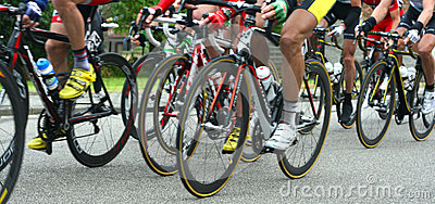 Cyclists Racing Royalty Free Stock Photo - Image: 25552145