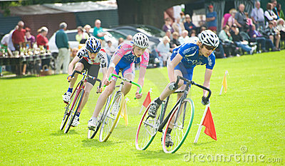 Cyclists racing at Strathpeffer. Editorial Photography