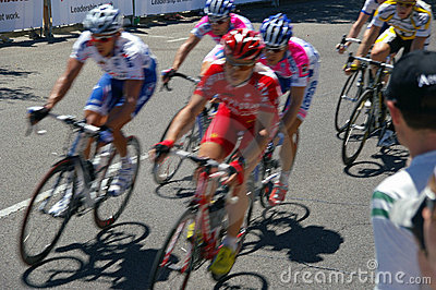 Cyclists - Tour down under 2009 Editorial Stock Image