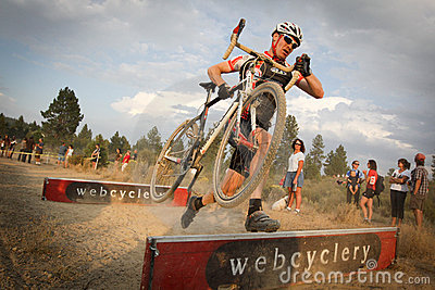 Cyclocross Barrier Jump Editorial Photo