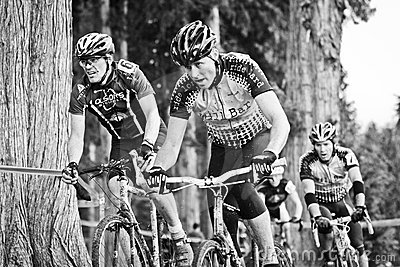 Cycloross Racers in an event Editorial Stock Image