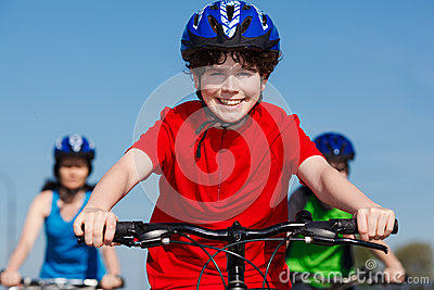 Cykla för familj