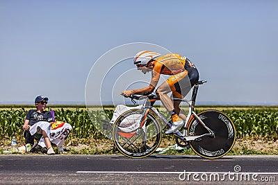 Cyklisten Juan Jose Oroz Ugalde Redaktionell Arkivfoto