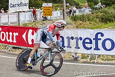 Cyklisten Lieuwe Westra Redaktionell Arkivfoto