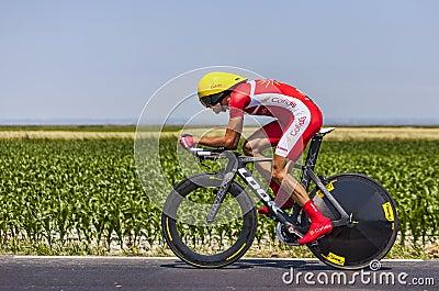 Cyklisten Rudy Molard Redaktionell Arkivfoto