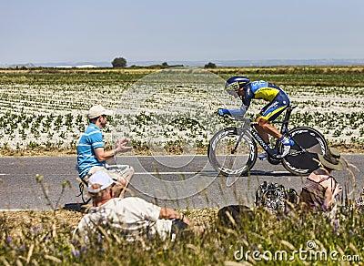 Cyklisten Sergio Paulinho Redaktionell Arkivfoto
