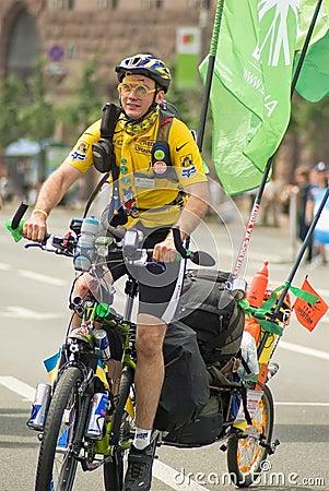 Cyklister Redaktionell Fotografering för Bildbyråer