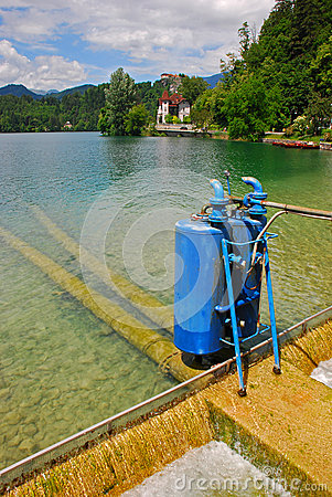 Cylinder Device at Lake Bled