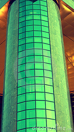 Free Cylindrical Modern Green Building Royalty Free Stock Photography - 11368657