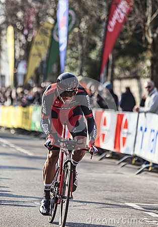 The Cylist Oss Daniel- Paris Nice 2013 Prologue in Houilles Editorial Image