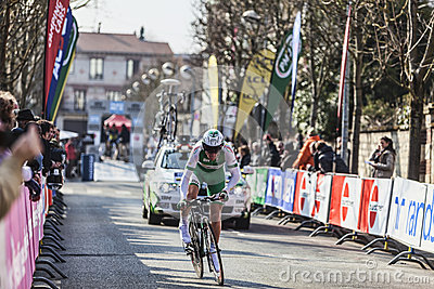 The Cylist Siskevicius Evaldas- Paris Nice 2013 Prologue in Houi Editorial Image