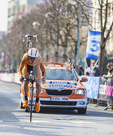 The Cyclist Verdugo Gorka- Paris Nice 2013 Editorial Stock Photo