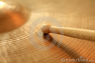 Cymbal and drumstick
