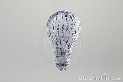 CYMK 3D Print prototyping: lightbulb