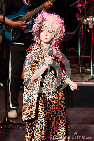 Cyndi Lauper Live Performance Editorial Stock Image