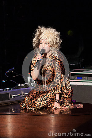 Cyndi Lauper Live Performance Editorial Photo