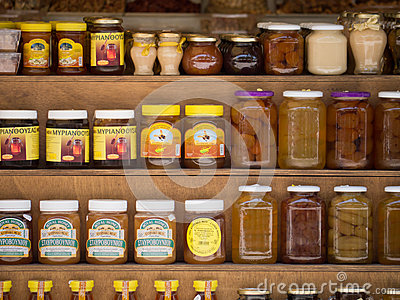 Cypriot jars Editorial Stock Photo