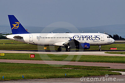 Cyprus Airways Airbus A320 Editorial Stock Photo