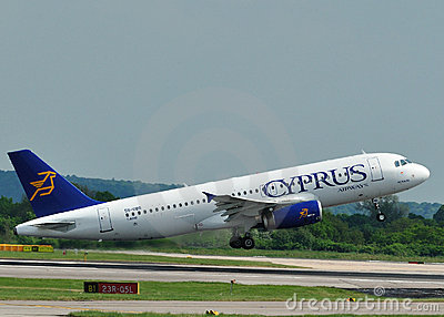 Cyprus Airways Airbus A320 Editorial Stock Image