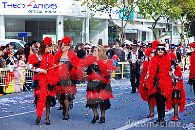Cyprus carnival, full of colors and fun Editorial Stock Photo