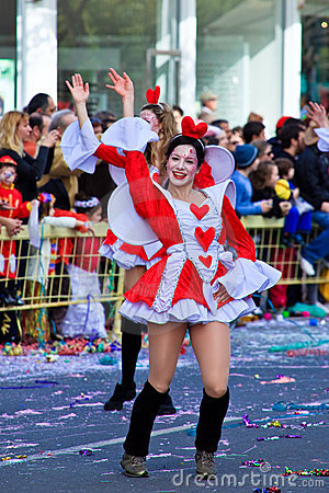 Cyprus carnival, full of colors and fun Editorial Stock Image