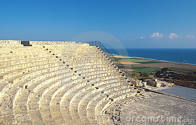 Cyprus, Kourion, Roman amphitheater and beach