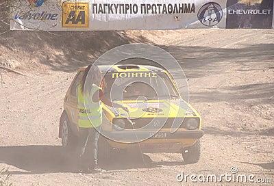 Cyprus Rally championship Editorial Photo