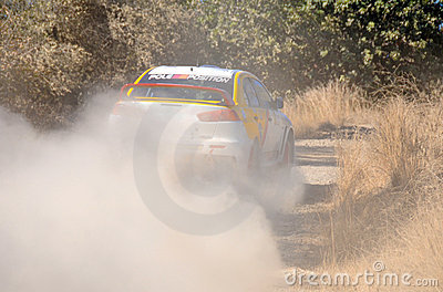 Cyprus Rally championship Editorial Photography
