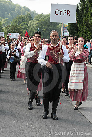 Cyprus traditional folk group Editorial Stock Image
