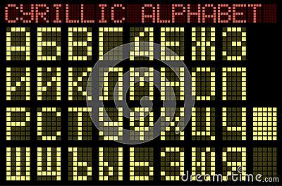 Cyrillic alphabet. Indicator.