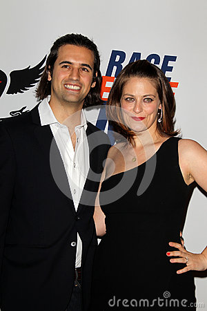 Cyrus Wilcox, Clementine Ford arrives at the 19th Annual Race to Erase MS gala Editorial Stock Photo