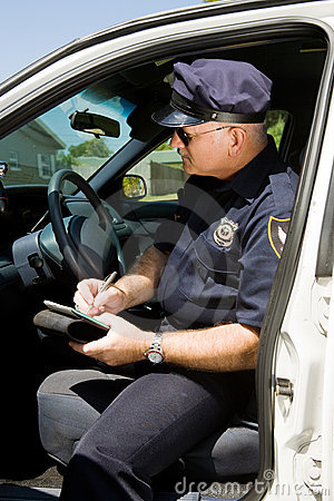 Cytaty piśmie policji