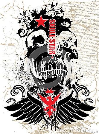 Czarna czaszki