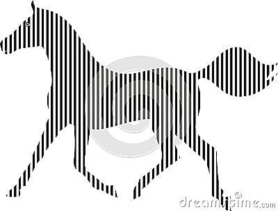 Czarno biały koń