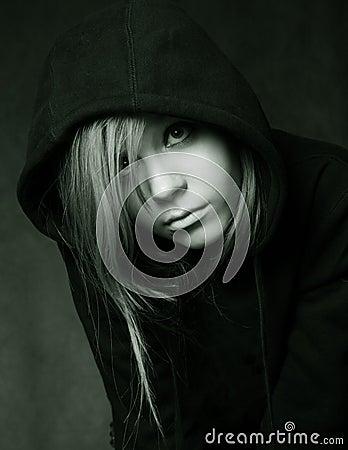 Czarny hood