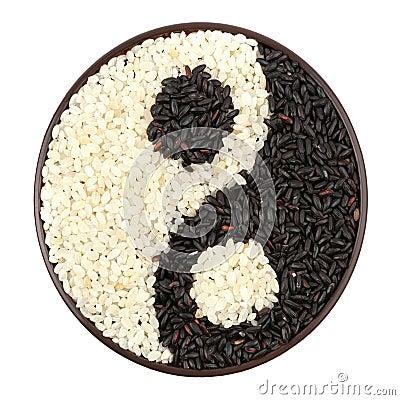 Czarny i biały ryż