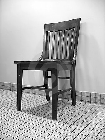 Czarny krzesło white