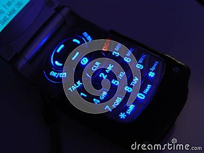 Czarny telefon komórki