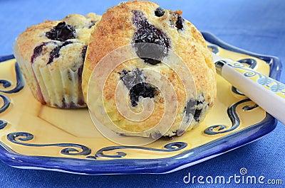 Czarnych jagod muffins