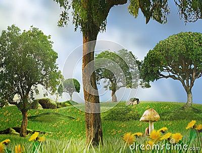 Czarodziejki bajka krajobrazowa sezonowa